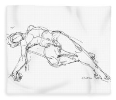 Nude Male Drawings 1 Fleece Blanket