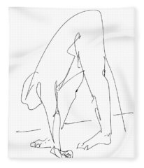 Nude Male Drawings 32 Fleece Blanket