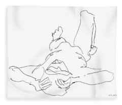 Nude_male_drawings-22 Fleece Blanket