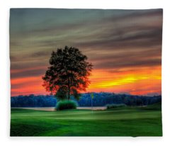 Number 4 The Landing Reynolds Plantation Art Fleece Blanket