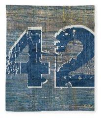 Number 42 Fleece Blanket