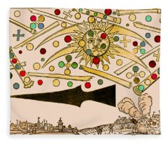 Nuremberg Ufo 1561 Fleece Blanket