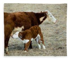 Nursing Calf Fleece Blanket