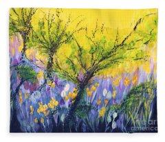 O Trees Fleece Blanket