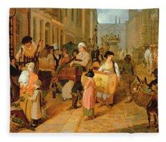 Oak Apple Day, 1812 Fleece Blanket