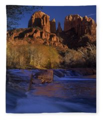 Oak Creek Crossing Sedona Arizona Fleece Blanket