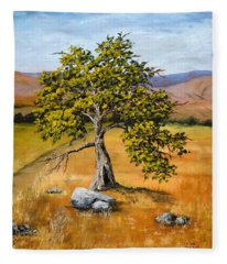 Oak Tree Fleece Blanket