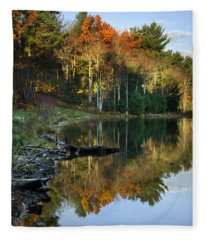 Fleece Blanket featuring the photograph Oakley Corners State Forest by Christina Rollo