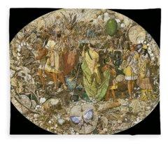 1850 Digital Art Fleece Blankets