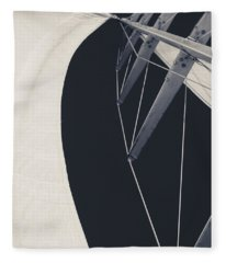 Obsession Sails 9 Black And White Fleece Blanket