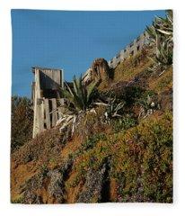 Ocean Beach Hillside Fleece Blanket