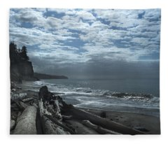 Ocean Beach Pacific Northwest Fleece Blanket