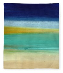 Ocean Blue 3- Art By Linda Woods Fleece Blanket