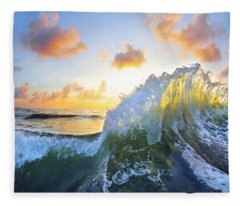 Ocean Bouquet Fleece Blanket