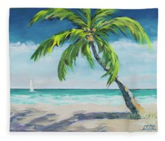 Ocean Breeze I Fleece Blanket