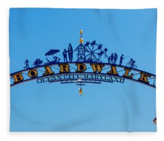 Ocean City Boardwalk Arch Fleece Blanket