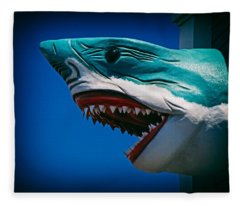 Ocean City Shark Attack Fleece Blanket