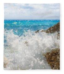 Ocean Spray Fleece Blanket
