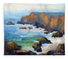 Schoolhouse Beach Overlook Fleece Blanket
