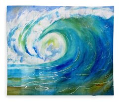 Ocean Wave Fleece Blanket