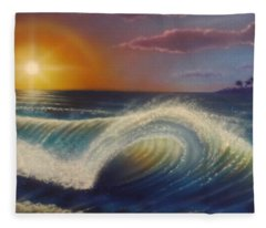 Ocean Wave Fleece Blanket