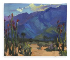 Ocotillos At Smoke Tree Ranch Fleece Blanket