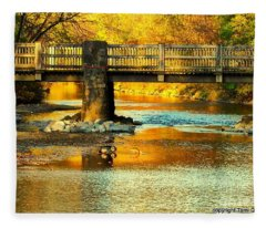 October At Robin Hood Dell Fleece Blanket