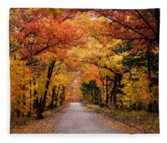 October Road Fleece Blanket