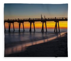 October Sunset Fleece Blanket