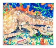 Octopus Delight Fleece Blanket