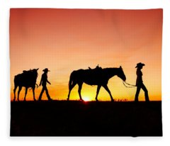 Off To The Barn Fleece Blanket