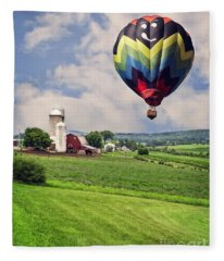 Off To The Land Of Oz Fleece Blanket