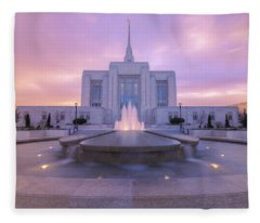 Ogden Temple I Fleece Blanket