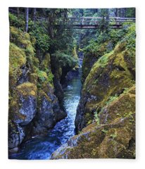 Ohanapecosh River Fleece Blanket