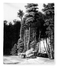 Ohio Road Accident, 1841 Fleece Blanket