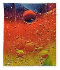Oil And Water Fleece Blanket