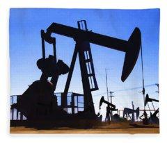 Oil Fields Fleece Blanket