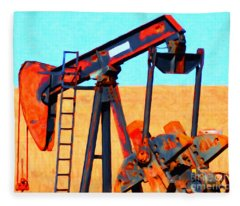 Oil Pump - Painterly Fleece Blanket