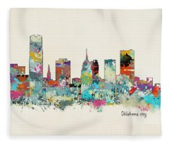 Oklahoma City Fleece Blankets