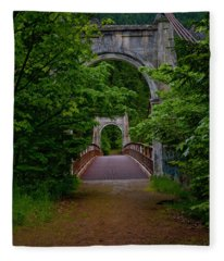 Old Alexandra Bridge Fleece Blanket