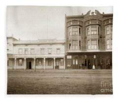 Old And New Salinas Hotel Was On West Market Street Circa 1885 Fleece Blanket