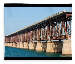 Old Bahia Honda Bridge 2 Fleece Blanket