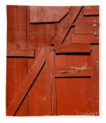 Old Barn Door 1 Fleece Blanket