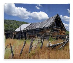 Old Barn Las Trampas New Mexico Fleece Blanket