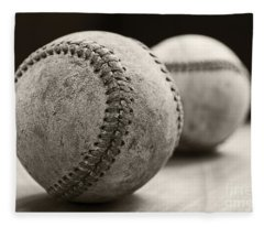 Fleece Blanket featuring the photograph Old Baseballs by Edward Fielding