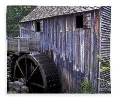 Old Cades Cove Mill Fleece Blanket