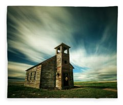 Old Cottonwood Church Fleece Blanket