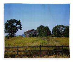 Old Country Barn Fleece Blanket