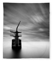 Old Crane Fleece Blanket