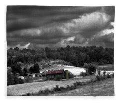 Old Farm Fleece Blanket